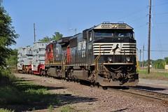 Shoving Back (Matt_Schimmel) Tags: cn train illinois ns ge freight rebuilt norfolksouthern emd granitecity c408 sd60e