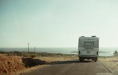 Alentejo (annnna*) Tags: summer costa film portugal azul carretera pentax cable verano caravan alentejo caravana pentaxspotmatic portugaldonorteasul