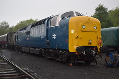 55022 (as 55007) at Grosmont (colin9007) Tags: english electric grey yorkshire royal class coco 55 napier scots grosmont nymr deltic d9000 55022
