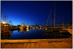 The Blue Hour (CanMan90) Tags: ocean longexposure blue canon reflections boats outdoors lights evening downtown britishcolumbia wideangle victoria hour wharf fishermanswharf gardencity cans2s rebelt3i efs1018mmf4556isstm