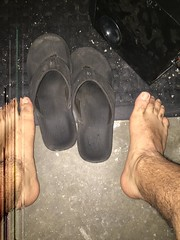 What the boss can't see won't hurt me! #barefoot #barefooter #filthyfeet #BarefootAtWork (barefootdizzle) Tags: barefoot barefooter filthyfeet barefootatwork