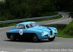 DSC_6582 - Alfa Romeo 1900 SSZ - 1955 - Zarenghi Luca - CPAE (pietroz) Tags: silver photo foto photos flag historic fotos pietro storico zoccola 21 storiche vernasca pietroz