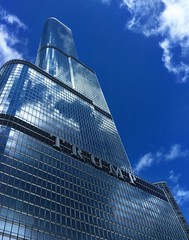 Trump Tower, Chicago, IL (- Adam Reeder -) Tags: chicago il illinois buildings downtown trump tower 2015 awesome world travel photo photography cool spectacular architecture adam reeder wwwadammreedercom adamreeder coconutbarometer kk6gpv personal wwwkk6gpvnet areed145 outdoor y2015 m09 d19 lat420 lon880 new eastside cook united states jpg apple iphone 6