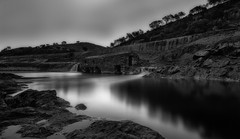 Amanecer Monocromatico... (protsalke) Tags: longexposure wild bw espaa byn nature water contrast sunrise river landscape flow lights nikon rocks riotinto dramatic monochromatic calm andalucia ndfilter neutraldensity