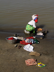 Wash Day (cormend) Tags: travel woman color water canon river eos colorful asia tour burma tourist myanmar southeast washing bagan birmanie irawaddy 50d cormend arrawaddy