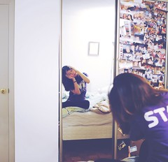 192/365 A girl in her bedroom. (Cynthia.Wong) Tags: selfportrait reflection mirror bedroom nikon 365 2012 expansion d3000 howsickareyouallofseeingthismirror