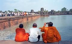 monks' holiday, Angkor Wat