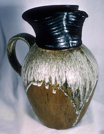 Stoneware Pitcher, Height 12 Inches