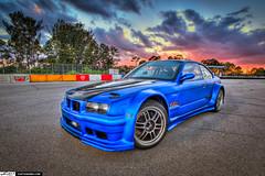 Ter-Tech's BMW 3 Series Drift Car at PBIR During Sunset