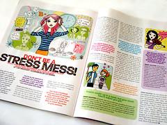 Illustrations in GL Magazine (lizin8or) Tags: life pink girls liz art illustration magazine hair adams teen tween