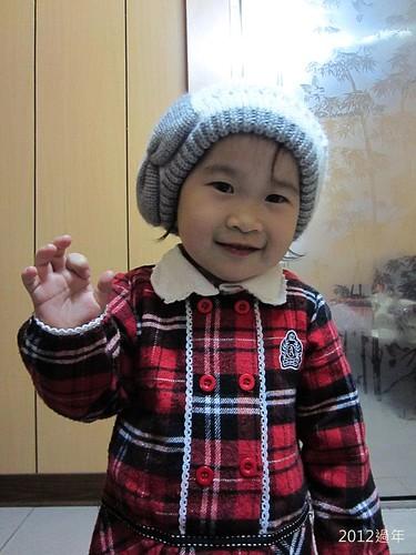 2012過年-IMG_3803-冬冬戴帽子