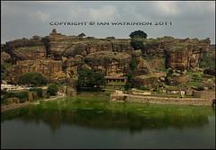 Badami North Karnataka (ianpwatkinson) Tags: india temples karnataka hindu jain badami chalukya cavetemples templelake