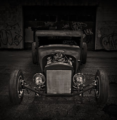 """Alley Rat"" (Neil Banich Photography) Tags: bw cars car automobile artistic pickup custom artcar hotrods ratrod autoart carscool picturescool neilbanichphotograhy imagescool"