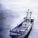 冬の漁船(2011年)