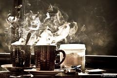 Sagada.42 (ginomempin) Tags: coffee vintage smoke sugar cups lighter cigarettes sagada saucers canon18135