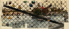 1078 Paris- Sity of Love (Nebojsa Mladjenovic) Tags: city bridge light sky urban mist paris france art texture seine digital french outdoors lumix frankreich panasonic pont frankrijk francia francais sena pontdesarts oldpostcard fz50 svetlost mladjenovic
