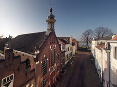 Korte Steigerstraat Zaltbommel (Fabfoto) Tags: church river aerial pap zaltbommel waal gelderland poleaerialphotography