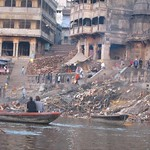 "Manikarnika Ghat (Cremation Ghat) <a style=""margin-left:10px; font-size:0.8em;"" href=""http://www.flickr.com/photos/14315427@N00/6879386611/"" target=""_blank"">@flickr</a>"