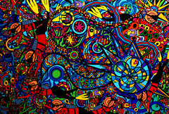 paintiing pics 105 (kelzinga) Tags: ocean sea people sun abstract water modern swimming holidays contemporary umbrellas vacations crowds beachart watersport sunbaking beachscenes beachsetting beachpaintings coastalart scubadivings karenelzingapaintiingpics beachdecore