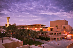 King Fahd University of Petroleum and Minerals (|| Msh3L Alomran ||) Tags: sunset canon lights university king tokina 7d minerals petroleum ksa dhahran  fahd kfupm           1116m
