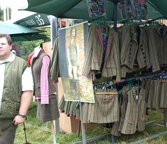 Womans country ware at Lowther (Tony Worrall) Tags: show uk game season outside image display sale folk candid country north hunting tan stall clothes cumbria gb british annual sell skirts hunt tweed ware lowther countryfolk lowthergameandcountryfair ©2012tonyworrall