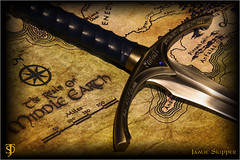 The Realm of Middle Earth (EXPLORE) (jammo_s) Tags: stilllife film movie map dwarf canvas explore elf gandalf sword hobbit tolkien orc jrrtolkien middleearth balrog thehobbit realm elvish thelordoftherings silmarillion glamdring beleriand gondolin jammo canoneos60d turgon gandalfssword sigma1770os