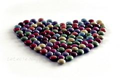 chocolate love (Lacaosa) Tags: colorful heart chocolate smarties colourful schokolade herz bunt schokolinsen gettygermanyq4