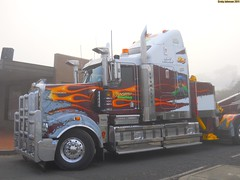 photo by secret squirrel (secret squirrel6) Tags: rescue monster stripes awesome flames alexandra service bonnet towtruck recovery kw kenworth wrecker associatedtowing secretsquirreltrucks t904908909