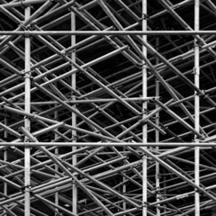 (Delay Tactics) Tags: bw white black square scaffolding sheffield explore