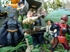 Clooney Puts Plans to Action (Dudesnbots) Tags: man mobile george iron cobra n battle joe tony bunker slaughter batman outback dudes stark bots clooney gi sgt warthog sergeant recondo insecticons dudesnbots