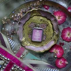 KEEP CALM & CARRY ON ( VINTAGE PINK) - RETRO CHARM (Alicja Radej Arte Ego) Tags: glass handmade oneofakind jewelry jewelery retrocharm