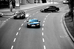 Straight. (MK | Art) Tags: blue white black canon point eos stuttgart d 8 bblingen r straight audi turning 550