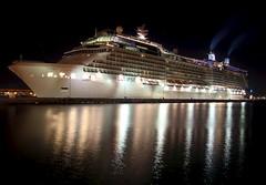 Celebrity Eclipse Cruise Ship : San Juan, Puerto Rico (Gordon King) Tags: city tower wall night buildings alley oldsanjuan puertorico cobble cobblestone sanjuan alleyway sentinel citywall sentineltower
