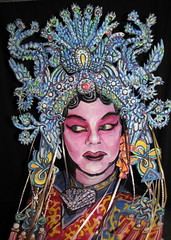 #600. Beijing Opera Star! (hawhawjames) Tags: china bird art face birds painting asian james opera paint theater artist dress mask theatre body head chinese beijing makeup geisha kabuki singer oriental performer diva kuhn pheonix