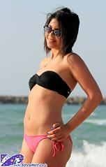 IMG_0745 (Streamer -  ) Tags: ocean blue girls sea two hot sexy beach boys water hair israel model eyes sand yam teen bikini  tanned  streamer     ashkelon             ashqelon   tzalam