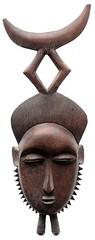 10Y_0896 (Kachile) Tags: art mask african tribal côtedivoire primitive ivorycoast gouro baoulé nativebaoulémasksaremainlyanthropomorphicmeaningtheydepicthumanfacestypicallytheyarenarrowandfemininelookingincomparisontomasksofotherethnicitiesoftenfeaturenohairatallbaouléfacemasksaremostlyadornedwithvarioustrad