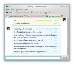 "KDE Telepathy's chat window • <a style=""font-size:0.8em;"" href=""http://www.flickr.com/photos/75137561@N03/6952028623/"" target=""_blank"">View on Flickr</a>"