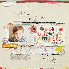 I'm so lucky to have you in my life :: {Explore} (ania-maria) Tags: boy scrapbooking banner son lo stamp doodle luck lucky draw prima annamaria scrap doodling primamarketing lyaout aniamaria doodledeaux