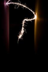 light binomial #1056 (juliopolito) Tags: longexposure summer lightpainting abstract black argentina silhouette yellow blackbackground night plane lights raw shadows nocturnal purple fireworks walls 1855mm nophotoshop imaginary 2012 viole whitelights lightpaint nikor 56 d3100 motionhighlights