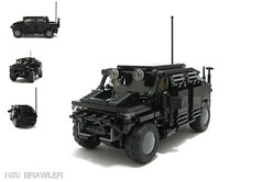 "HSV ""Brawler"" (Exius_) Tags: black brick big support lego wide 8 security corporation vehicle suv heavy corp length eight antenna stud hsv exo 8wide exius"