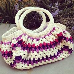 Granny Bag (BravaBravaMariarosa) Tags: bag crochet granny borsa grannysquare uncinetto ravelry grannybag borsagranny