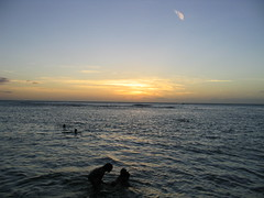Sunset On Ke'e Beach (jhudson81) Tags: ocean statepark sunset usa beach hawaii honeymoon unitedstates hanalei keebeach hawaiibeach haenastatepark