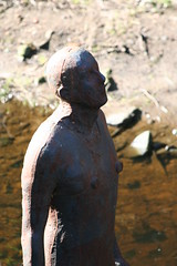 Tin man (ianharrywebb) Tags: scotland edinburgh antonygormley waterofleithwalkway iansdigitalphotos