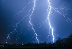 Double Bolt (MRHSfan) Tags: nature weather nikon arkansas lightning storms thunderstorms northwestarkansas nikond7000