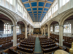St Michaels York 3775fh (stagedoor) Tags: york city uk england copyright church architecture yorkshire olympus fisheye inside northyorkshire listed grade1 minsteryard johnforeman em5 stmichaellebelfrey fisheyehemi