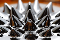 Ferrofluid (xhachair) Tags: metal closeup education pattern technology zoom experiment science fluid research backgrounds physics liquid magnet scientific ferro nanotechnology ferrofluid