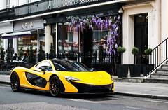 P1 chilling (Aimery Dutheil photography) Tags: london yellow speed canon amazing fast knightsbridge exotic mclaren british hybrid supercar v8 p1 londoncars 70d hypercar londonsupercars volcanoyellow mclarenp1