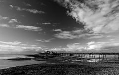 Birnbeck Pier (technodean2000) Tags: uk sea england sky cloud water field landscape pier nikon mare waterfront outdoor super weston lightroom birnbeck d5300