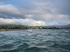 San Vicente de la Barquera (Dea) Tags: sea sky beach clouds coast mar spain olympus e3 cantabria mogro arna covachos fola