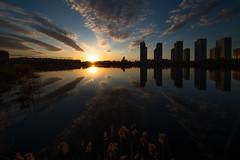DSC8856 (Dmitriy An) Tags: sunset sun building water clouds stpetersburg landscape spring pond nikon canyon nikkor d800        1424        buchareststreet parkinternationalists